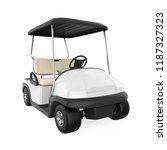 golf cart isolated. 3d rendering | Shutterstock . vector #1187327323