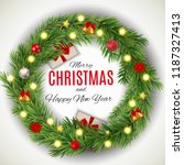 merry christmas and new year... | Shutterstock .eps vector #1187327413