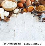 ingredients and utensils for... | Shutterstock . vector #1187328529