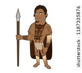 indigenous man cartoon...   Shutterstock .eps vector #1187335876
