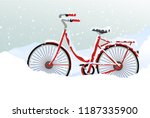 winter transport issues. hello... | Shutterstock .eps vector #1187335900
