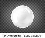 the white pearl. gem sphere on... | Shutterstock .eps vector #1187336806