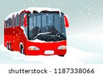 winter transport issues. hello... | Shutterstock .eps vector #1187338066