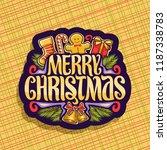 vector logo for merry christmas ... | Shutterstock .eps vector #1187338783