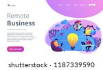 coworking team of users... | Shutterstock .eps vector #1187339590