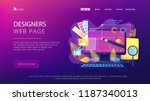 designers are working on the... | Shutterstock .eps vector #1187340013