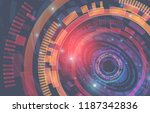 abstract technology background. ... | Shutterstock .eps vector #1187342836