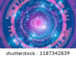 abstract technology background. ... | Shutterstock .eps vector #1187342839