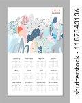 calendar 2019. printable... | Shutterstock .eps vector #1187343136