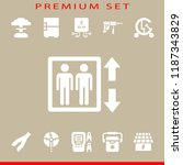 electric icon set. elevator... | Shutterstock .eps vector #1187343829