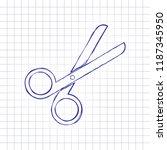 scissors icon. tool of barber....   Shutterstock .eps vector #1187345950