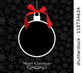 hang christmas bauble over... | Shutterstock .eps vector #118734634
