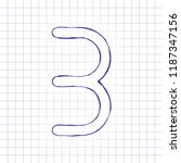 number three  numeral  simple... | Shutterstock .eps vector #1187347156