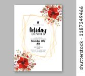 red poinsettia christmas party... | Shutterstock .eps vector #1187349466