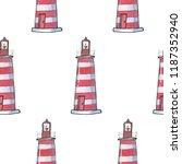watercolor hand drawn pattern... | Shutterstock . vector #1187352940