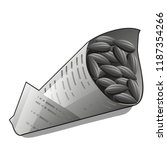 sunflower seeds in paper packet ... | Shutterstock .eps vector #1187354266