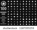 business icon set for web sites ... | Shutterstock .eps vector #1187355253