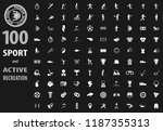 sport icon set for web sites... | Shutterstock .eps vector #1187355313