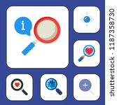 zoom icon set. magnifying glass ... | Shutterstock .eps vector #1187358730