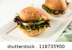 slider sandwiches with pulled... | Shutterstock . vector #118735900