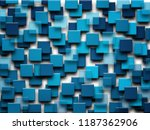 blue cube background    Shutterstock . vector #1187362906