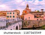 the bridge of tiberius in...   Shutterstock . vector #1187365549