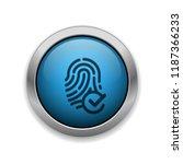verified fingerprint   app icon | Shutterstock .eps vector #1187366233
