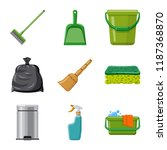 isolated object of cleaning and ... | Shutterstock .eps vector #1187368870