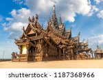 sanctuary of truth in pattaya ... | Shutterstock . vector #1187368966