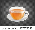 tea cup isolated over black... | Shutterstock .eps vector #1187372053