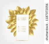 golden leaves in form of flower ... | Shutterstock .eps vector #1187372056