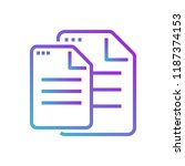 file document copy icon | Shutterstock .eps vector #1187374153