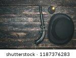 musket gun  bowler hat and...   Shutterstock . vector #1187376283