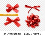 bows color red realistic design.... | Shutterstock .eps vector #1187378953