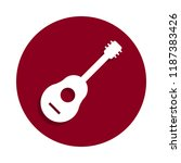 guitar icon in badge style. one ...