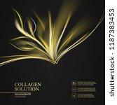 beautiful abstract golden... | Shutterstock .eps vector #1187383453