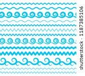 blue sea water waves vector...   Shutterstock .eps vector #1187385106