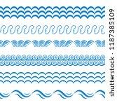 blue sea water waves vector... | Shutterstock .eps vector #1187385109