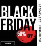 black friday 50  off modern... | Shutterstock .eps vector #1187390119