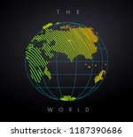 earth concept. vector drawn by ... | Shutterstock .eps vector #1187390686