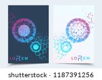 scientific brochure design... | Shutterstock .eps vector #1187391256