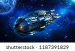 alien mothership  spaceship in... | Shutterstock . vector #1187391829
