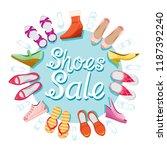 women's shoes sale  blue...   Shutterstock .eps vector #1187392240