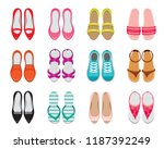 set of different types of women'... | Shutterstock .eps vector #1187392249