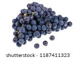 bunch of blue grapes isolated... | Shutterstock . vector #1187411323