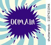 text sign showing domain....   Shutterstock . vector #1187421046