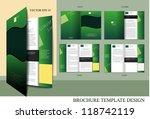 brochure design template   Shutterstock .eps vector #118742119