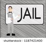 text sign showing jail.... | Shutterstock . vector #1187421400