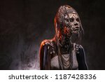 portrait of a scary african... | Shutterstock . vector #1187428336