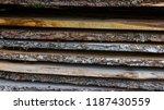 natural wooden boards... | Shutterstock . vector #1187430559